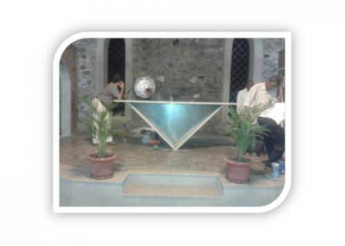 CHRUCH INSIDE ARCHIES ALONG WITH STONE WALL & GRANITE FRAMEING ALTER 1