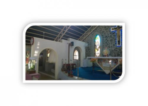 CHRUCH INSIDE ARCHIES ALONG WITH STONE WALL & GRANITE FRAMEING ALTER 3