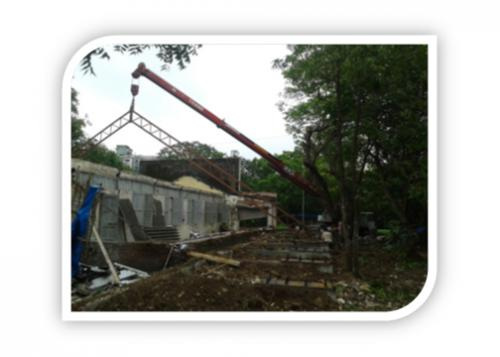 FIXING OF THE TRUSSES ON POSITION