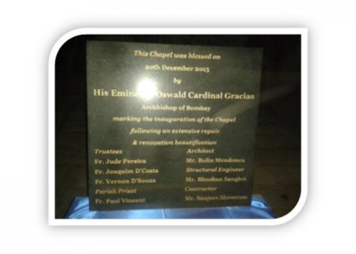 GARNITE PLAQUE FOR THE CHRUCH