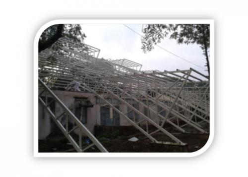 PAINTED TRUSSES SIDE VIEW