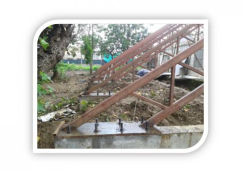 TRUSSES ONFOUNDATION PLATE WELDED